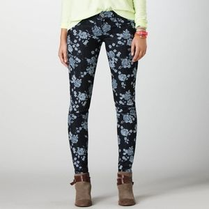 American Eagle Floral Print Jeans Stretch Jeggings